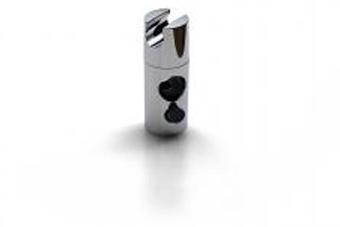 Duschstangen-Gleiter vercromt 25 mm