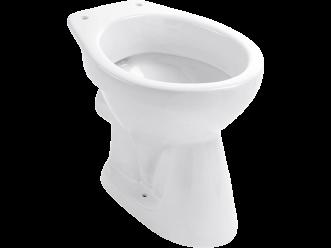 Stand-WC Abgang waagrecht, weiss